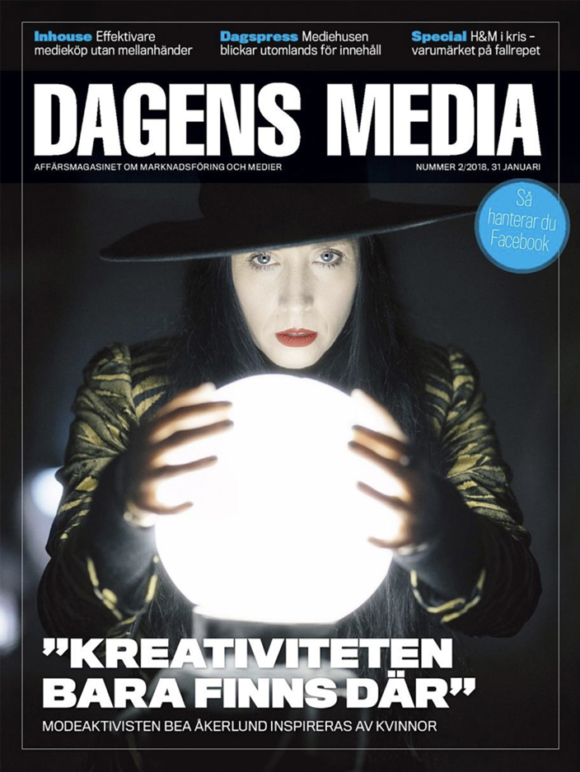 Bea Åkerlund X Cover for Dagens Media